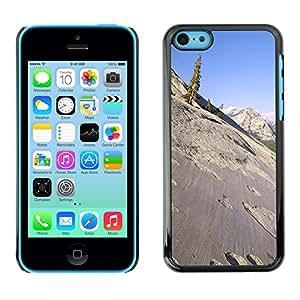 - Ocean Seas - - Monedero pared Design Premium cuero del tir¨®n magn¨¦tico delgado del caso de la cubierta pata de ca FOR Apple iPhone 5C Funny House