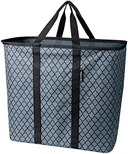 CleverMade Collapsible SnapBasket LaundryCaddy Quatrefoil