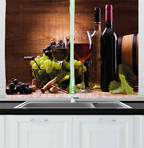 wine and grapes curtains - 7