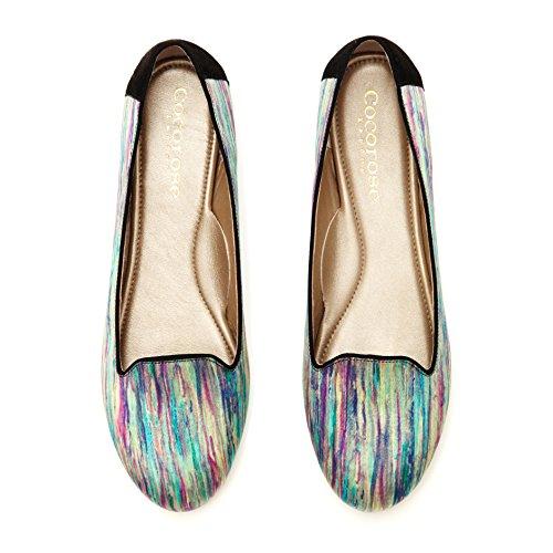 Cocorose London Schuhe - Kensington Damen Ballerinas Leder Mehrfarben Grün