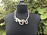 Heidi Daus No Monkey Business Crystal & Bead Necklace Wow Swarovski Elements