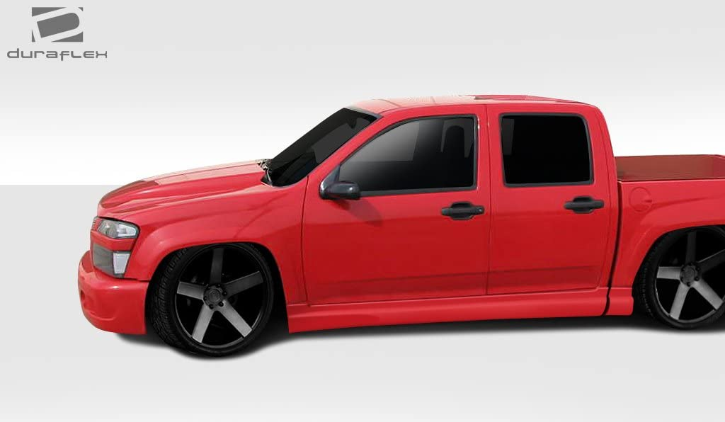 4 Piece Body Kit Compatible With Colorado 2004-2009 Brightt Duraflex ED-WPV-509 BT-1 Side Skirt Rocker Panels