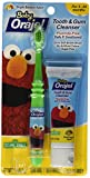 Orajel Baby Elmo Tooth and Gum Cleanser with Toothbrush, Apple Banana, 1.0 Oz