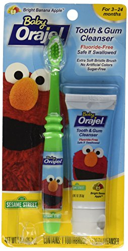 Orajel Baby Elmo Tooth and Gum Cleanser with Toothbrush