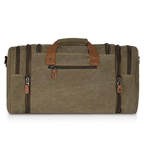 ebf0adfa598 Plambag Oversized Canvas Duffle Bag 50L Tote Travel Weekend Luggage Gym Bag  Army Green