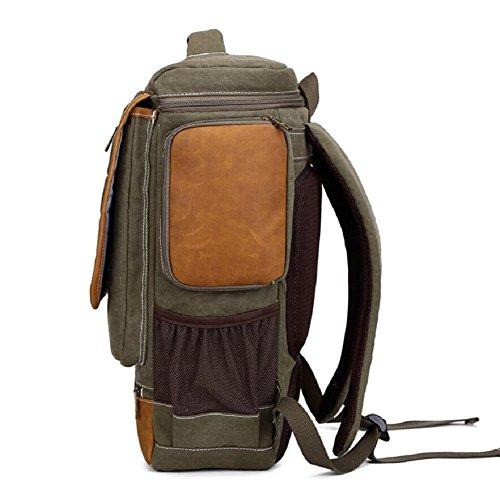 LJ&L Estilo europeo mochila de estilo simple, 18-30L mochila de lona de la capacidad, al aire libre mochila multiusos de viaje de la juventud, hombres y mujeres mochila de moda universal,B,18-30L A