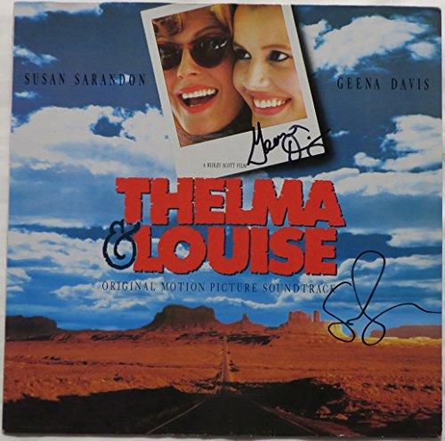 Susan Sarandon/Geena Davis Signed Thelma & Louise Autographed Album Cover PSA/DNA #AC68341