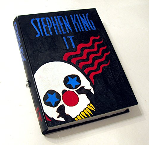 Stephen Kings IT hideaway box. Unique & hand decorated. Hidden compartment.