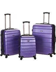 Rockland Luggage Melbourne 3 Piece Set, Purple
