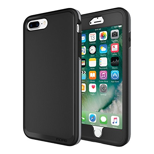 iPhone 7 Plus Case, Incipit Performance Series Max Protection [Shock Absorbing] Cover fits Apple iPhone 7 Plus - Black/Gray -  Incipio, IPH-1516-BKG