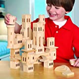 Discovery Kids Solid Wood 69 pc Castle Block Set