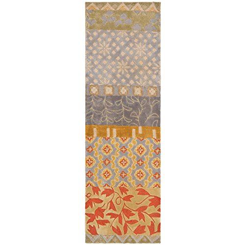 Safavieh Rodeo Drive Collection RD622M Handmade Multicolored Wool Runner (2'6