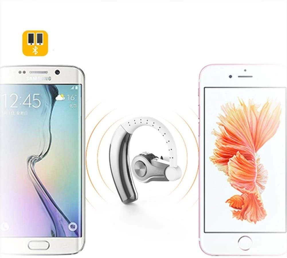 HUOQILIN Wireless Bluetooth Headset Boys And Girls Waterproof And Sweat-ear Monaural Sports Car Special Earplugs (Color : Silver) Gold