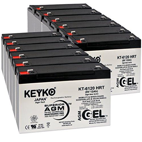 Efi Plate - Efi Electronics Corporation Sysgarde 505 6V 12Ah Battery - Fresh & Real 14Amp - Deep Cycle AGM/SLA Designed for Uninterrupted Power Supply - Genuine KEYKO KT-6120 HRT - F1 Terminal - 12 Pack