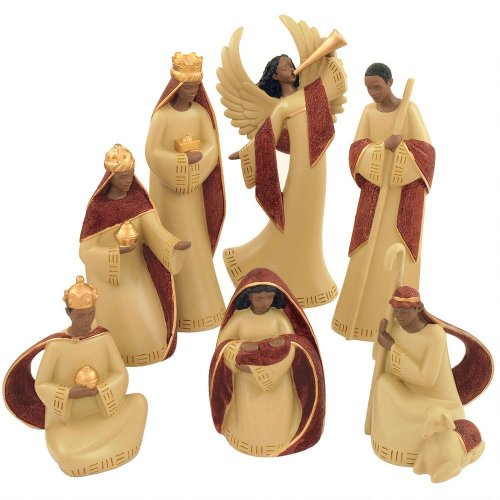 African-American Nativity Scene 7 Piece Set