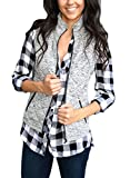 HOTAPEI Womens Vest Slim Zip Up Lightweight Down Vest