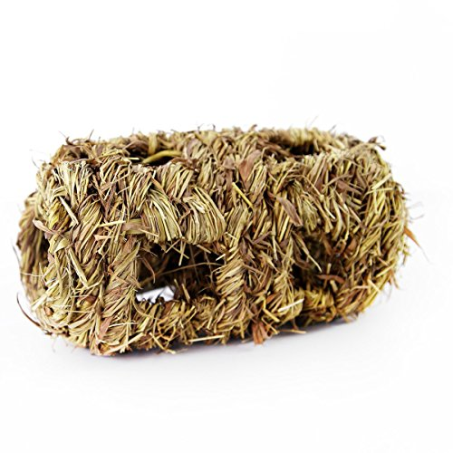 Grass Edible (Simoce Handmade Edible Natural Grass Bell Play Ball/ Holey Nest/Holey Tunnel for Rabbit, Hamster, Guinea-pig or Chinchilla, Chew Toy for Small Animals.)