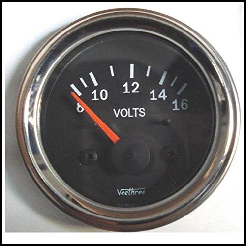 Veethree 227042 Voltmeter 8 – 16V (C/B) Black
