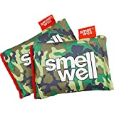 SmellWell Shoe Deodorizer and Freshener: Scented Natural Charcoal Moisture Remover - For All Shoes, Boxing Gloves, Gym Bags and Lockers (2 Pack Green Camo)