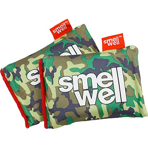SmellWell | Shoe Deodorizer & Natural Odor Absorber | Natural Bamboo Charcoal Air Purifying Bag/Moisture Remover | for All Shoes, Boxing Gloves, Gym Bags, Lockers & Closets | 2 Pack |