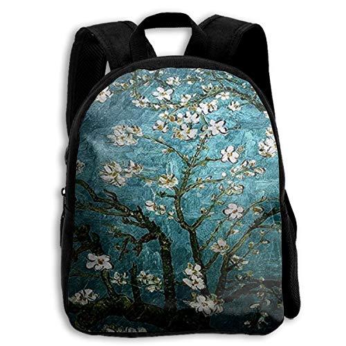 School Backpack Vincent Van Gogh Almond Blossoming For Kids Elementary School Bags Bookbag ()