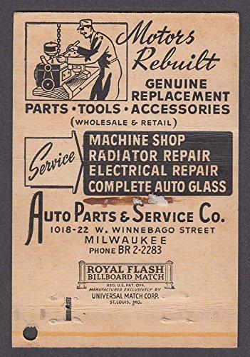 Auto Parts & Service Co 1018-22 W Winnebago St Milwaukee WI