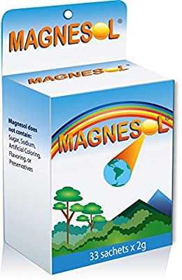 Magnesol Magnesium Supplement - Magnesium Chloride with Zinc - Powder Form - 320mg / Sachet - No Artificial Ingredients, No Sugar, Gluten-Free