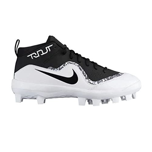 separation shoes 32868 6631b Boys  Nike Force 4 Trout Pro MCS Baseball Cleat Size 1 Black White