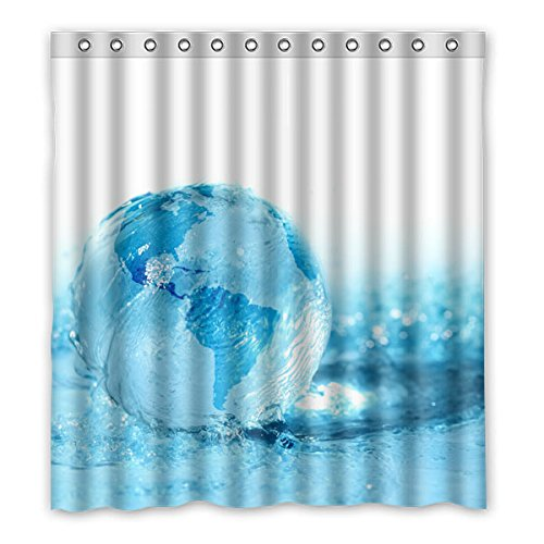 """Price comparison product image 167 cm x183 cm (66 """"x72"""") bathroom shower curtain,  The blue sea water,  toilet polyester curtains."""