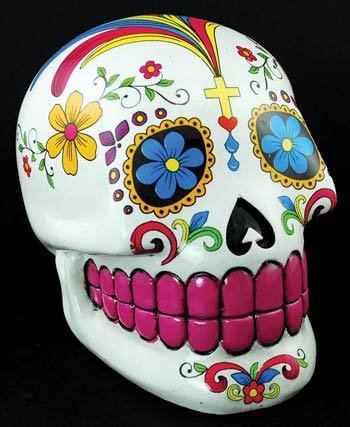 Fantasy Gifts White Sugar Skull Mexican Day of