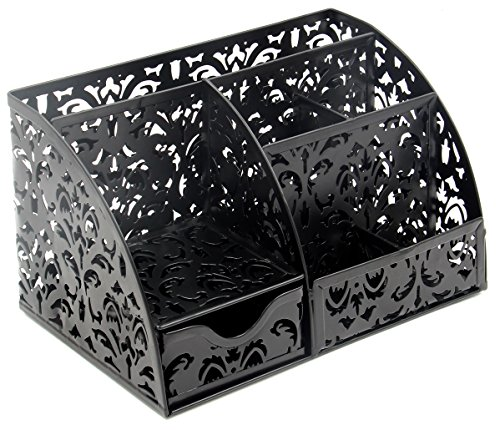 EasyPAG Office Accessories Desk Organizer Caddy with Drawer,Black by EasyPag