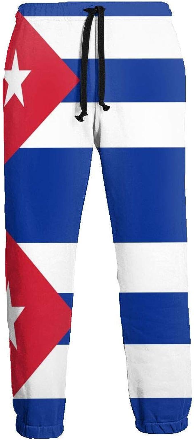 LDDDP - Pantalones de chándal para Hombre con la Bandera de Cuba y ...
