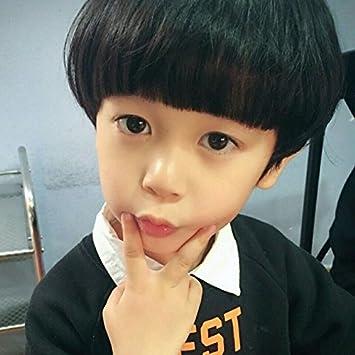 Amazon Com Korean Children Baby Mushroom Head Wig Short Hair Bob