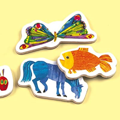 Mudpuppy The World of Eric Carle Wooden Magnetic Shapes, Great for Kids Age 3+, 35 Wooden Magnets Featuring Characters from Eric Carle's Books, Fun to Play on Any Magnetic Surface: Mudpuppy, Carle, Eric: Toys & Games