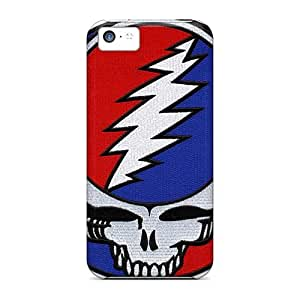 Shockproof Cell-phone Hard Covers For Iphone 5c (pgh18394DoLx) Allow Personal Design Nice Grateful Dead Band Pattern