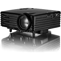 ViviBright Mini LED Projector GP7S 120 Lumens 480x320 LCD With HDMI/USB/SD/Video/VGA All in One for Video Game,Black