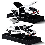 KMT 1:28 INITIAL D Toyota AE86 Alloy Diecast Car Model (Black Hood+White)