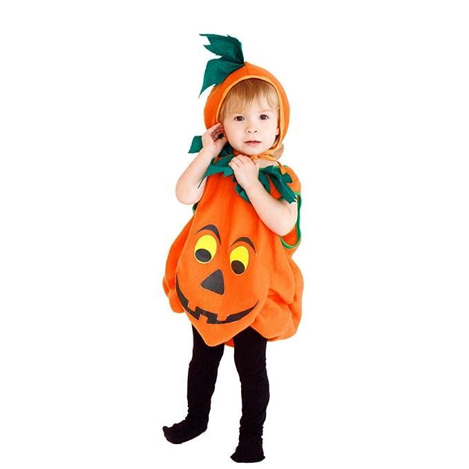 fcb0a5ba7d66f Pueri Disfraz de Calabaza de Halloween Traje para Bebé Niños de Cosplay  2pcs de Mono y