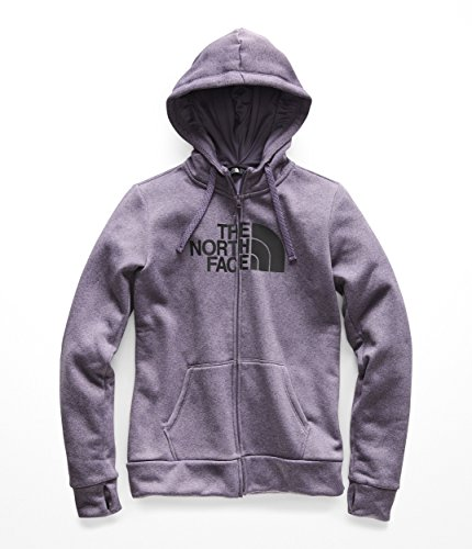 (The North Face Women's Fave 1/2 Dome Full Zip 2.0 Purple Sage Heather/Asphalt Grey X-Small)