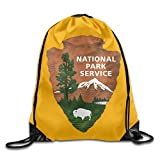 US National Park Service Logo Cool Drawstring Backpack String Bag