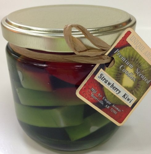 10 oz Strawberry Kiwi Gel Candle-A scent of fresh strawberry and tart (Fruit Gel Candle)