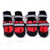 Norbi Pet Dog Cotton Sneakers High Pet Boots Skidproof Waterproof Winter Warm Anti-Slip