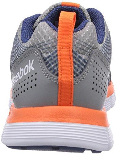 Reebok Z Dual Rush - zapatillas de running de material sintético niña Violeta - Violett (Flat Grey/Batik Blue/Silver Metallic/Tangerine/White)