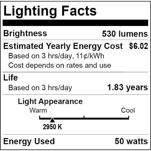 6 pcs 50PAR20//NFL 50W PAR20 Narrow Flood Halogen 120V Light Bulbs Triangle Bulbs 64916 NEW AND IMPROVED