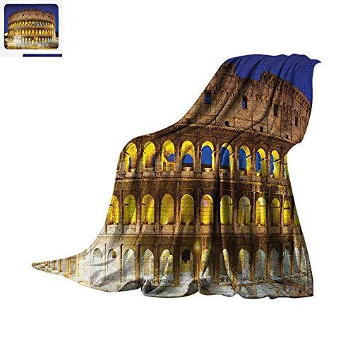 Luoiaax The Colosseum Warm Microfiber All Season Blanket Historic Imperial Roman Architecture European Culture Symbol Summer Quilt Comforter 60