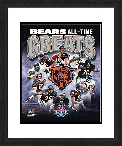 NFL Chicago Bears 'All Time Greats', Beautifully Framed and Double Matted, 18