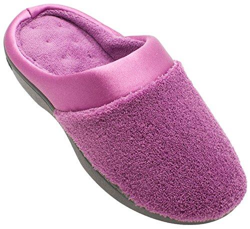 Isotoner Micro-badstof Satijnen Manchet Voor Verstopping Van De Kussentjes Verstopt Ultra Violet