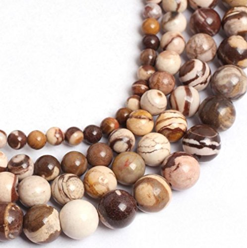 AAA Natural Zebra Jasper Gemstone 6mm Loose Round Beads Spacer Beads 15.5