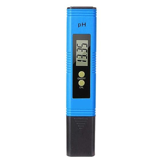 jinclonder Medidor de pH portátil Medidor de Prueba de PH Digital Probador de Calidad del Agua en el hogar con función de calibración automática y Rango de ...