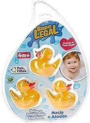 Brinquedo para Bebe Conjunto de Patinhos Pais e Filhos